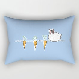 Cue Kawaii Rabbit And Carrots Rectangular Pillow