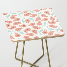 Retro flowers 001 Side Table