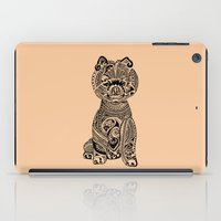 pomeranian iPad Cases featuring Polynesian Pomeranian by Huebucket