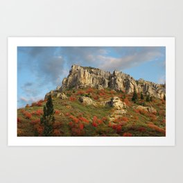 Rock Outcropping in the fall Art Print