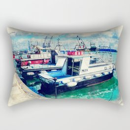 Trapani art 16 Sicily Rectangular Pillow