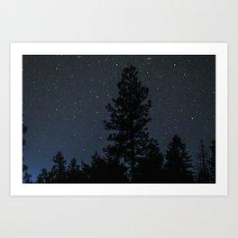 Blue Night Sky Photography Print Art Print