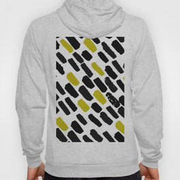 Oblique dots black and white olive Hoody