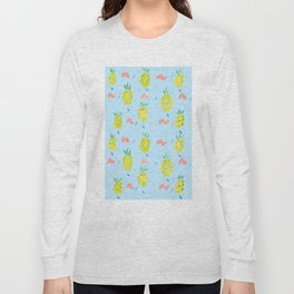 Pineapples Squiggle Long Sleeve T-shirt