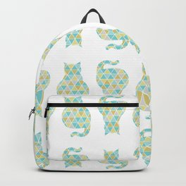 Cat Triangulation Pattern Backpack