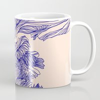 tulip Mugs featuring Dark tulip by Annike