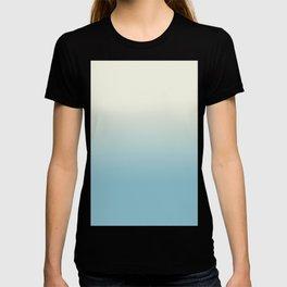 Ombre Blue Petit Four Gradient Motif T-shirt