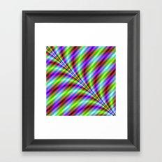 Neon Stripes Framed Art Print