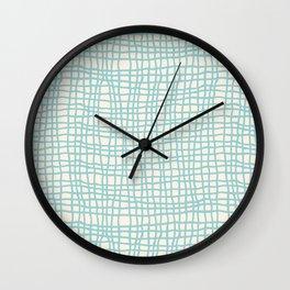Blue Scribbles Pattern 06 Wall Clock