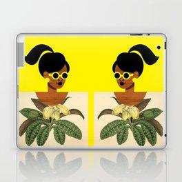 Ponytail Girl with Nature Shirt Laptop & iPad Skin