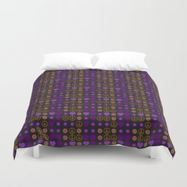 Halloween Peace Holiday Weave Duvet Cover