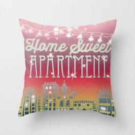 Home Sweet Apartment - Sunset Version Throw Pillow