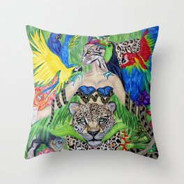 Welcome to the Amazon Throw Pillow