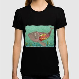 world in whale T-shirt