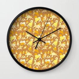Dogs In Sweaters (Brown) Wall Clock