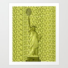 Statue of Liberty with Tennis Balls Art Print