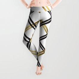 Crosshatch in Gold Leggings