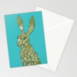 Esmeralda Hare with daisies Stationery Cards
