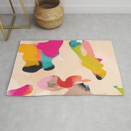 abstract bright color modern art Rug
