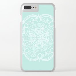 Mint Romantic Mandala #2 #drawing #decor #art #society6 Clear iPhone Case