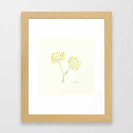 Dill Stems Framed Art Print