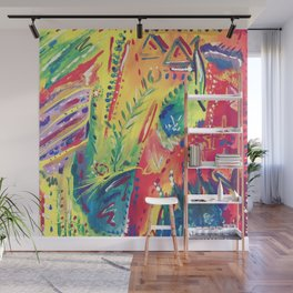 Splashes of colour Wall Mural