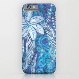 SAMOAN Decor - Hawaiian Decor - Cool Blue Breeze iPhone Case