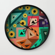 crazy triangles Wall Clock