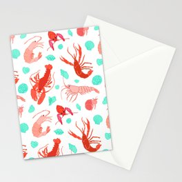 Dance of the Crustaceans in Pearl White Stationery Cards