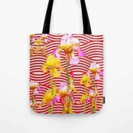 Oriental Red Wave Iris Water Garden Tote Bag