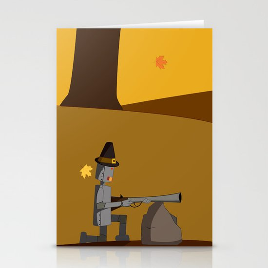 November Robot Stationery Cards