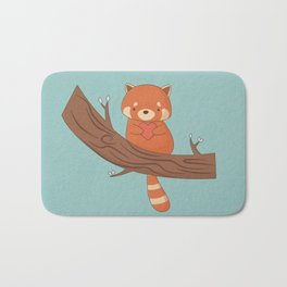 Kawaii Cute Red Panda Bath Mat