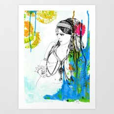 Tribal Beauty 6 Art Print