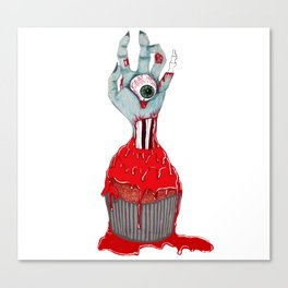 Cup Cake Zombie Canvas Print