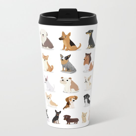 Dog Overload - Cute Dog Series Metal Travel Mug