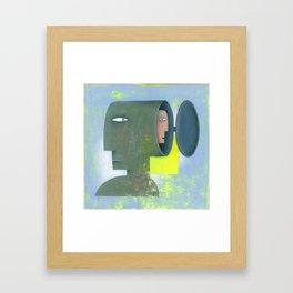 double head Framed Art Print