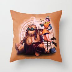 Lucca and Robo Throw Pillow