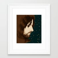 aragorn Framed Art Prints featuring Aragorn by Colien
