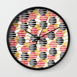 Into Stripes Wall Clock