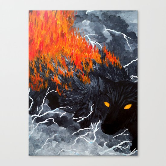 Down Cyuka Canvas Print