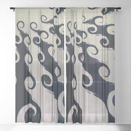 Circulation, No. 2 Sheer Curtain