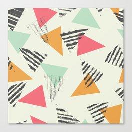 Geometric Mint Pattern Design 015 Canvas Print
