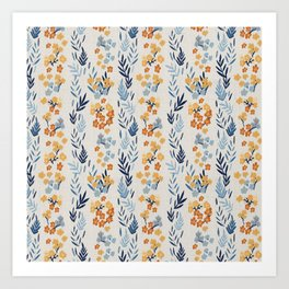 Oleander Floral Pattern Art Print