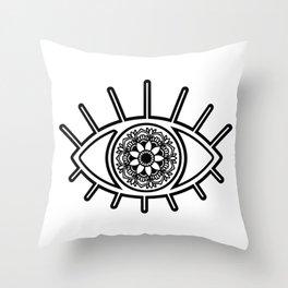 Mandala Evil Eye Throw Pillow