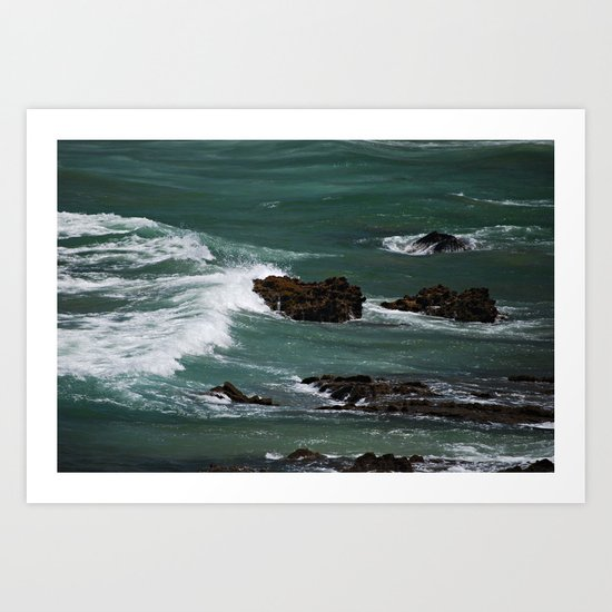 Praia do Castelejo, Portugal Art Print
