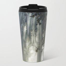 Smoke and Sun Filtered Through a Fir Tree Travel Mug