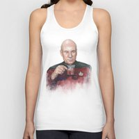 picard Tank Tops featuring Captain Picard Earl Grey Tea | Star Trek Painting by Olechka