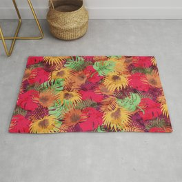 Seamless Pattern of Tropical Leaves Rug