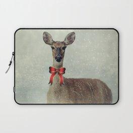 Christmas Deer Holiday Greetings Laptop Sleeve