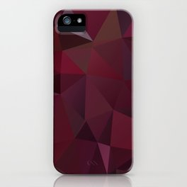 Abstract background of triangles polygon design red marsala colors iPhone Case